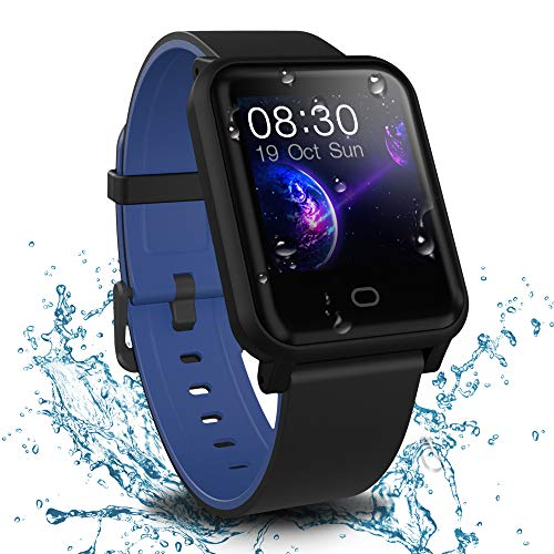(Fitpolo Health Fitness Tracker, Waterproof Activity Tracker Heart Rate Monitor, Step Calories Counter, Sleep Monitor, Stopwatch, Breath Training, Pedometer, Smart Watch for Kids Woman Man)
