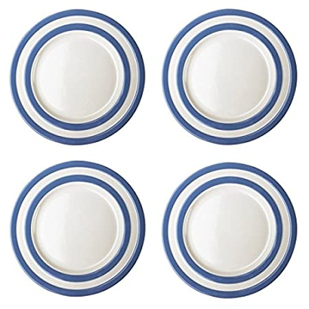 Cornishware Blue and White Stripe Set of 4 Main Dinner Plates 28cm  sc 1 st  Amazon UK & Cornishware Blue and White Stripe Set of 4 Main Dinner Plates 28cm ...