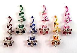 Stick On Ornament Bridal Bindi Forehead Stickers Body Art Tattoo Jewelry Bellydance - #06