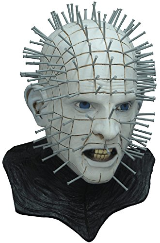 Hellraiser Pinhead Mask (Ghoulish Productions Men's Monster Horror Hellraiser III Pinhead Mask Halloween Costume Accessory)