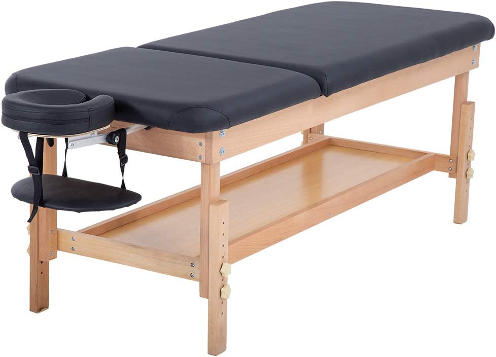 Massage Table Massage Bed Spa Bed 74 L 28 W Height Adjustable Stationary Massage Table Memory Foam Layer PU Massage Bed Profession 660LBS lLoad-Bearing Heavy Duty Spa Bed Facial Cradle Salon Bed