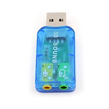 ZUKABMW - Adaptador de Audio y Tarjeta de Sonido USB con ...