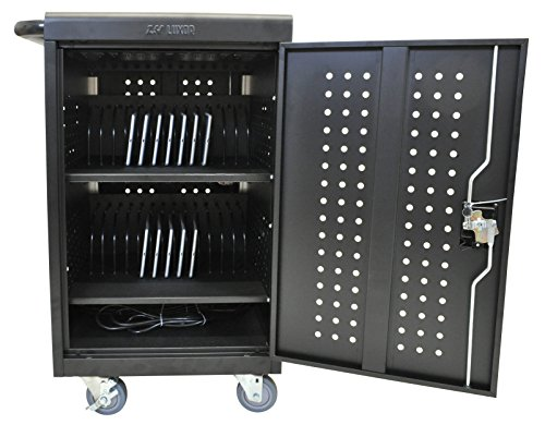 DMD Deluxe Mobile Charging and Storage Cart - Stores up to 30 Devices - Multiple iPad, Tablet, Laptop and Notebook Charging Station/Security Cabinet - Locking Cabinet with Set of Two (Mobile Notebook Security Cart)
