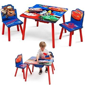 Disney Kindersitzgruppe Cars Tisch + 2 Stühle Netz Sitzgruppe ...