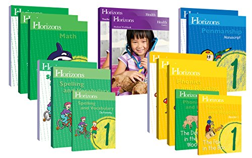 Horizons Homeschool Curriculum 1st Grade 1, Complete Set (Set Includes: Math, Penmanship, Health, Spelling & Vocabulary, Phonics & Reading) ()