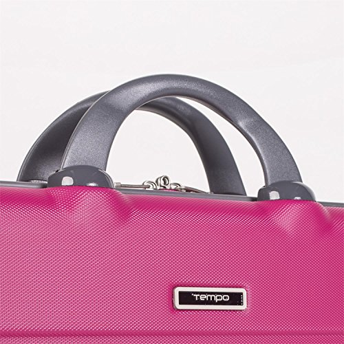 light and adjustable ABS Briefcase Inner for 67001 grey shoulder holder Color and double Champagne Fuchsia Rigid handle laptop TEMPO padded document robust strap w86q0I