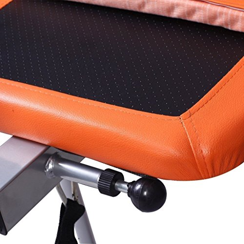 Heavy Duty 300 Lbs Capacity Foldable Premium Gravity Inversion Table Back Therapy Fitness Reflexology