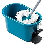 MopAway Dry/Wet Microfiber Super Absorbent Floor Mop with Bucket, Teal