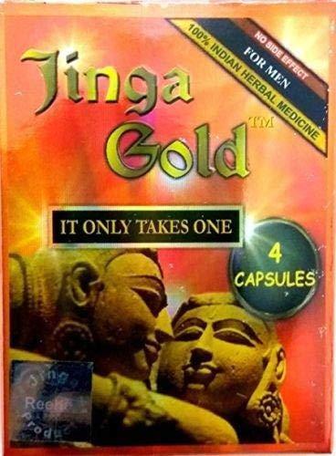 Reeha Herbals Jinga Gold 4 Capsules for Men - Ayurvedic