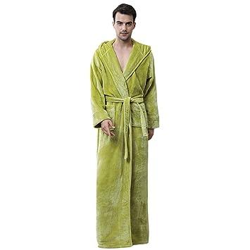 MERRYHE Vestidos para Albornoz De Franela Adultos Unisex Batas Largas De Baño con Capucha Batas con