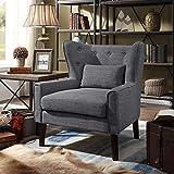 Rosevera Tufted Liviana Club Chair, Grey