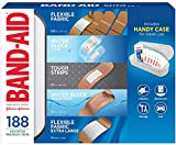 Band-Aid Adhesive Bandages 188Count of Tough Strips Includes Handy Case for Travel Use, 188Count