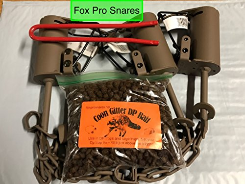 Fox Pro Snares LLC 3 Duke DP Dog Proof Raccoon Traps, 1 DP Setter & 1 Coon Gitter Bait