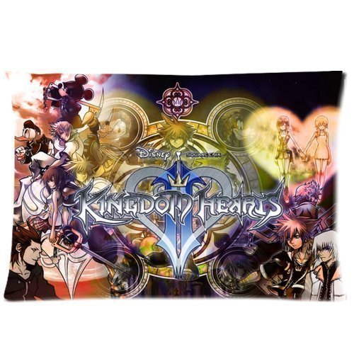 Personlized Cartoon Design Custom Kingdom Hearts Sofa Throw Pillowcas 20 by 30 Queen King Pillows