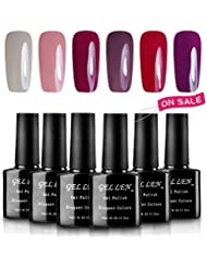Gellen 6 Popular Colors UV Gel Nail Polish Kit, Soak...