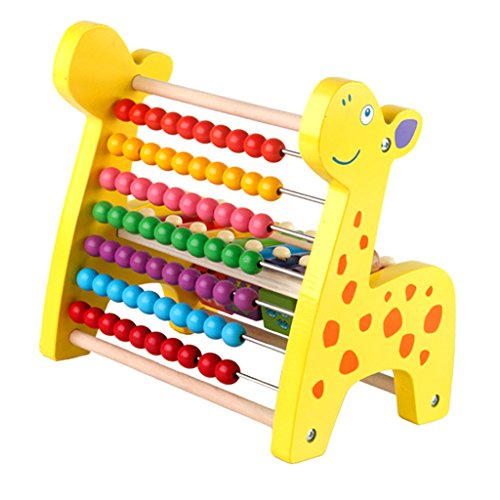 - CUTICATE Giraffe Wooden Abacus Classic Math Educational Counting Toys with 70 Rainbow Beads, Calculating Frame & Shape Sorter Toy for Kids Toddlers