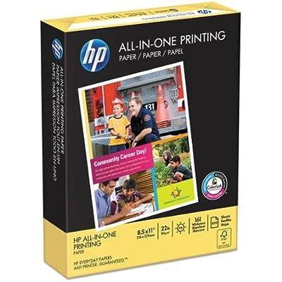 HP All-In-One Acid-Free Printing Paper, 97 Brightness, 22lb, 8-1/2 x 11, White, 500 Shts/Ream