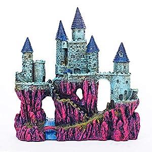 """Miracliy Aquarium Decorations Castle, Aquarium Ornament Super Castle,10"""" 78"""