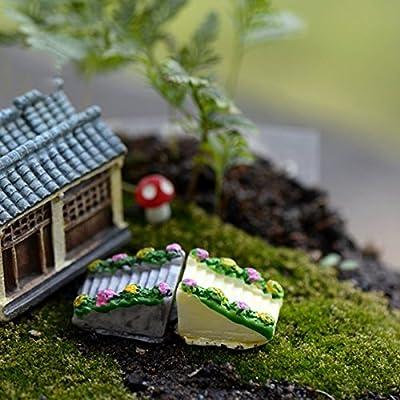 Da.Wa Adornos de Escalera de Piedra Gris (uno para la Venta) Escalera de Jardinería de Resina Gris Moss Micro Paisaje Adornos Jardinería Escalera de Jardinería Adornos de Bricolaje: Amazon.es: Hogar