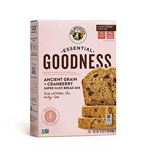 King Arthur Flour Essential Goodness Ancient Grain Plus Cranberry Super Slice Bread Mix, 16 Ounce