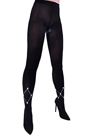 a3561ca64 Simply Stunning Black tights with sewn buttons Orianne by Adrian Size S M  L  Amazon.co.uk  Clothing
