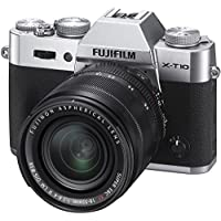 Fujifilm X-T10 Mirrorless Digital Camera with 18-55mm Lens (Silver) - International Version (No Warranty)