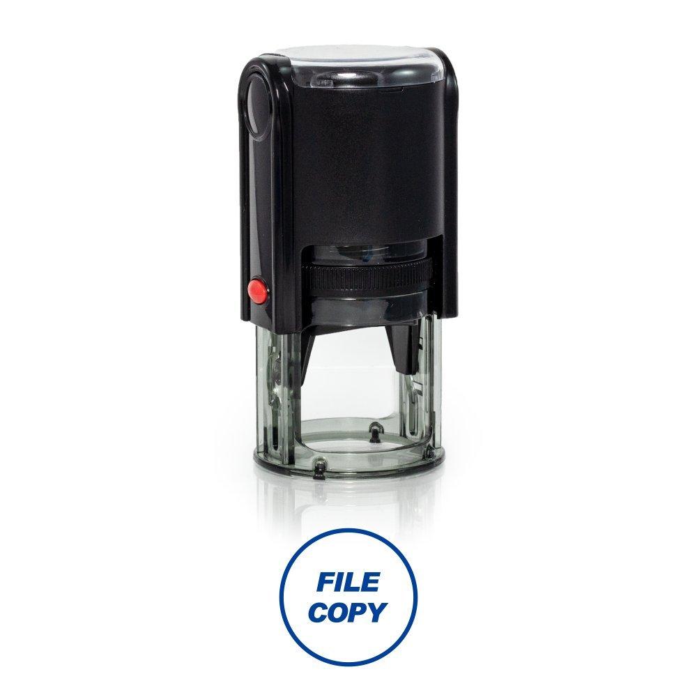 ラウンドファイルコピーSelf Inkingゴム製スタンプサイズ1 – 1 /4  ブルー B07D54BZVB