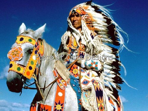 1/4 Sheet ~ American Indian With Horse Birthday ~ Edible Image Cake/Cupcake Topper!!!