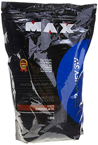 Top Whey 3W - 1800g Refil Chocolate, Max Titanium