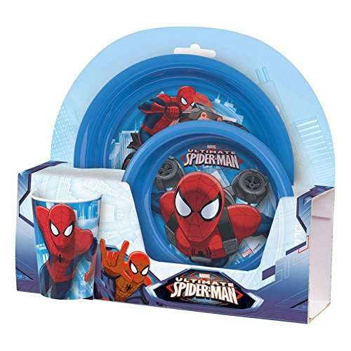 (Breakfast Set Ultimate Spider-Man with Plate, Cereal Bowl & Cup)