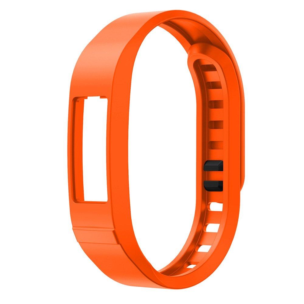 シリコン時計ストラップ、RTYOu ( TM )耐久性新しい交換用Tpu手首バンドストラップfor Garmin Vivofit 2スマートリストバンドWatch オレンジ オレンジ B077PTJLSX