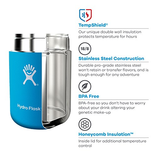 Hydro Flask 12 oz Leak Proof double Wall vacuum pressure Insulated Stainless metallic BPA Free Food Flask Thermos Jar Pacific Thermoses