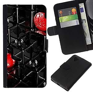 All Phone Most Case / Oferta Especial Cáscara Funda de cuero Monedero Cubierta de proteccion Caso / Wallet Case for LG Nexus 5 D820 D821 // Abstract Grid