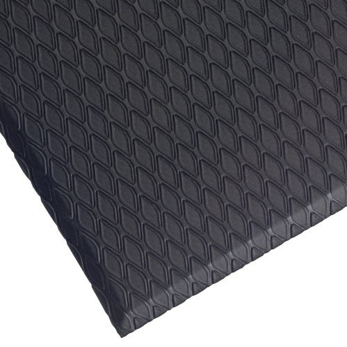 Andersen 414 Cushion Max Nitrile /PVC Rubber Foam Anti-Fatigue Indoor Floor Mat, 3' Length x 2' Width, 5/8 Thick, Black by Andersen