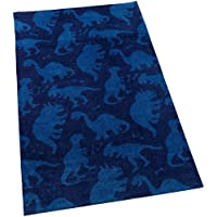 KidKraft Kids Non-Slip Backing Dinosaur Rug, Blue, 3 x 5