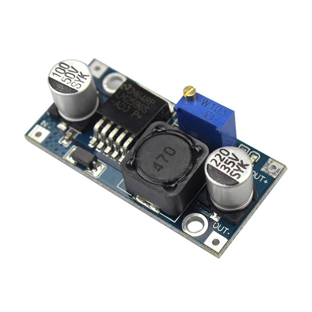 FairytaleMM Buck Power Module 3A M/ódulo Buck ajustable Lm2596 Regulado 24V a 12V 5V 3V Azul