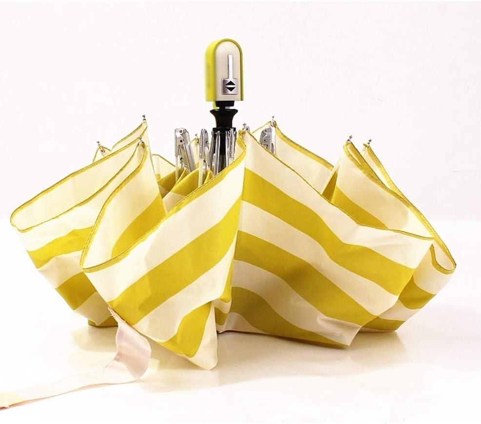 ZhiGe Foldable Umbrella,Rain Compact Folding Fully Automatic Aluminum Frame Windproof Fiberglass Strip Sun for Men Women Rain Umbrellas