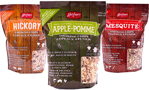 - MacLean's Outdoor Barbecue Natural Wood Smoking Chips, One Bag BBQ Smoker Wood. (Apple Wood)