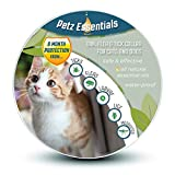 Petz Essentials Flea and Tick Collar for Cats and Dogs - Protects Your Cat or Dog for 8 Months with Safe & Effective Essential Oils - 18 Inch Collar Fits All Cats and Most Small and Medium Sized Dogs