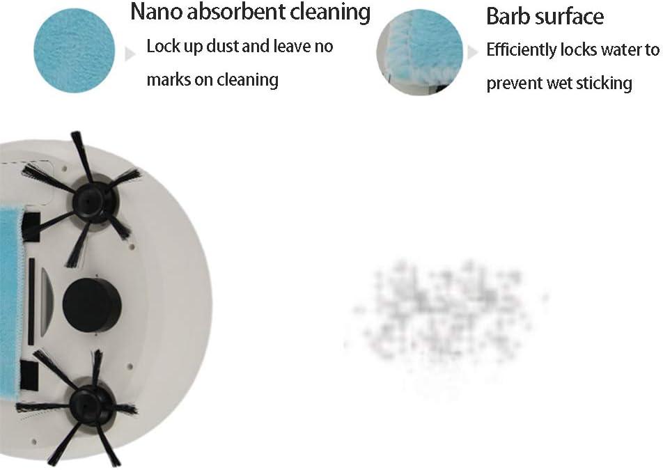 DUXIUYING Robot De Nettoyage De Sols Intelligent, Aspirateur Automatique Domestique, Adapté Aux Poils d\'animaux, Tapis, Sols Durs, Carreaux,Blanc Black