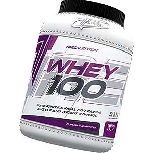 100% Whey Protein 600g - 100% de proteína de suero - Slim Body / Control de Peso - Bajo en calorías batido de proteínas - ganar músculo y Control de Peso - La mejor proteína para construir músculos - Trec Nutrition (chocolate)