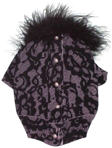 Cheap The Dog Squad Bardot Lace Button Back Cardi Pet Sweater, X-Small