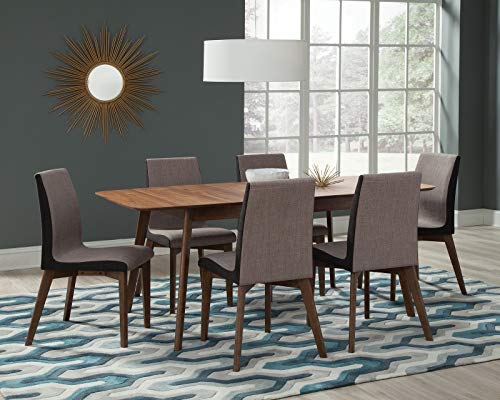 (Coaster 106591-CO Dining Table, Natural Walnut)