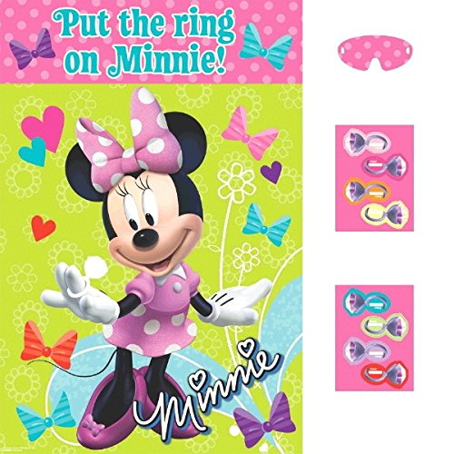 Disney Minnie Mouse Birthday Party Game Activity Supplies (4 Pack), Multi Color, 37 1/2