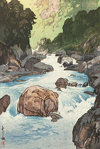 (Japanese Art Print - Kurobe River (Kurobe-gawa) by Yoshida Hiroshi)