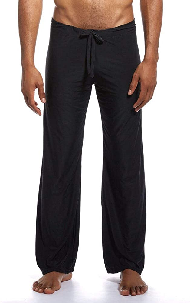 Mendove Men's Yoga Lounge Long Ice Silk Pants