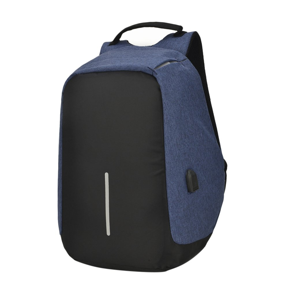 Zhuhaijq Laptop Backpack with USB Charging Port Reflective Strip Water Resistant