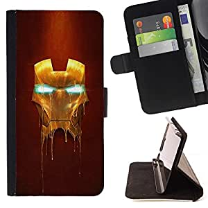 For Samsung Galaxy Note 3 III Iron Superhero Mask Style PU Leather Case Wallet Flip Stand Flap Closure Cover
