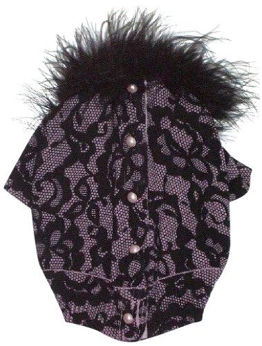 The Dog Squad Bardot Lace Button Back Cardi Pet Sweater, X-Small