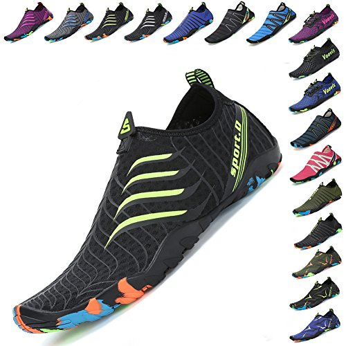 Mens green Quick Dry Black Socks Aqua Yoga Womens Swim Water Beach Shoes Voovix Barefoot SOqwp